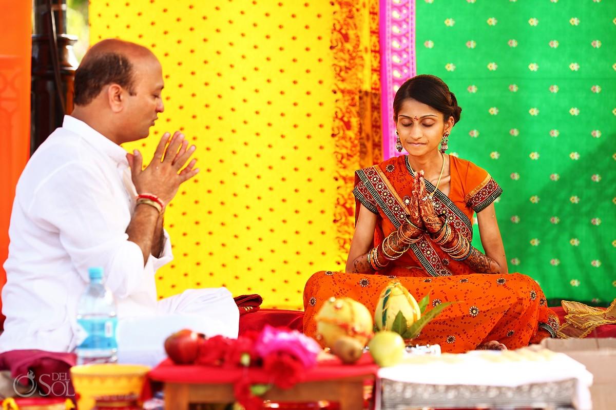 Hindu Wedding Pithi and Grah Shanti Ceremonies Riviera Maya