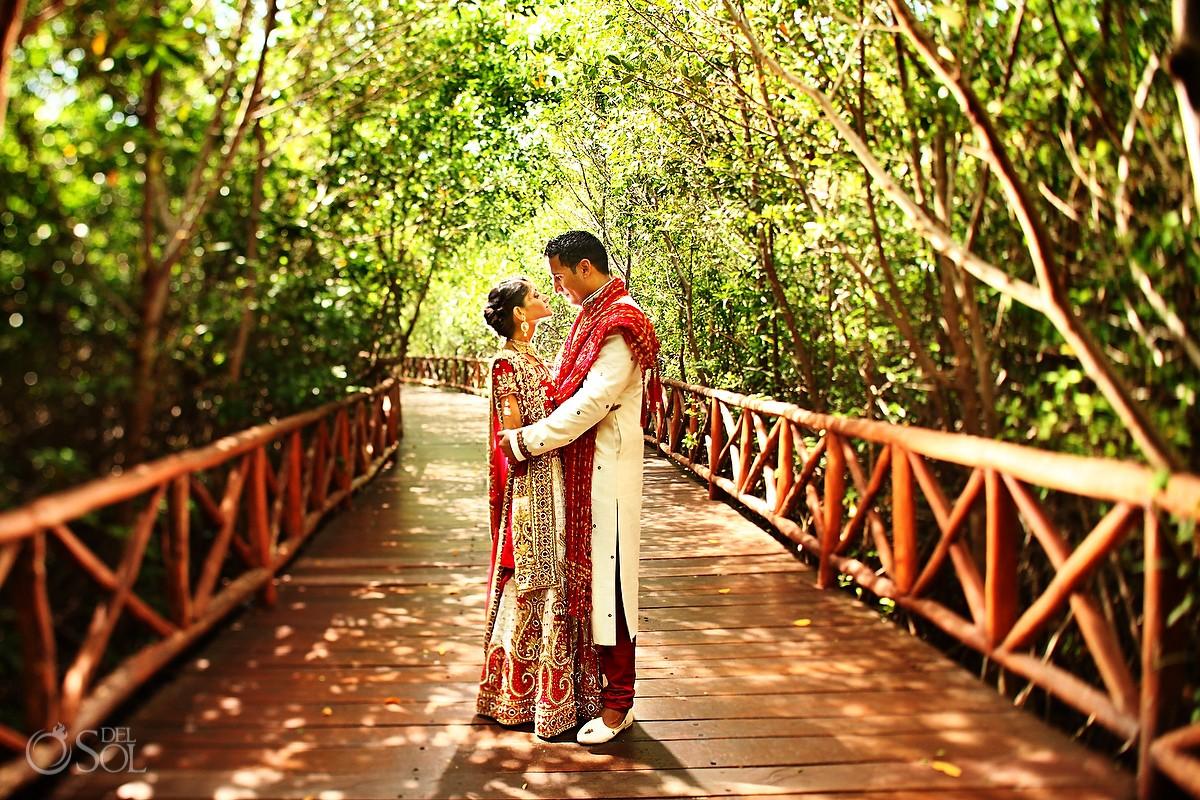 First look Hindu wedding Riviera Maya Iberostar Mexico