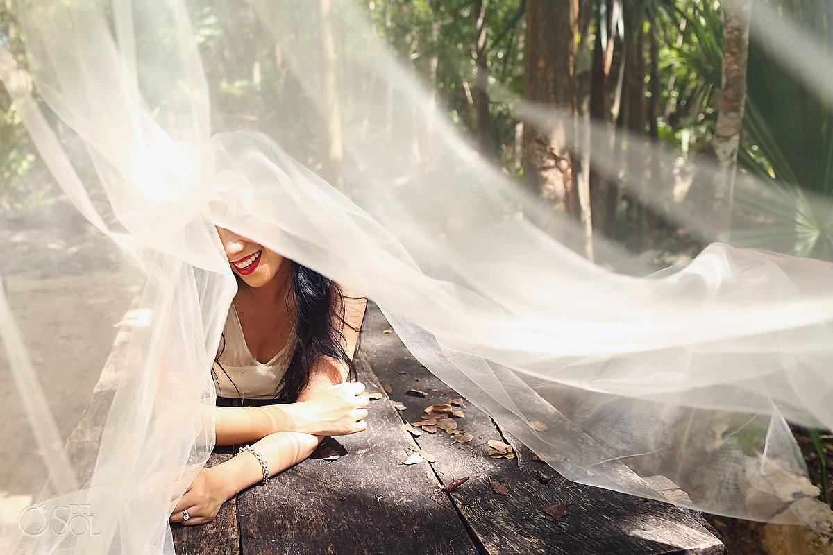 Riviera Maya trash the dress wedding photography Mexico