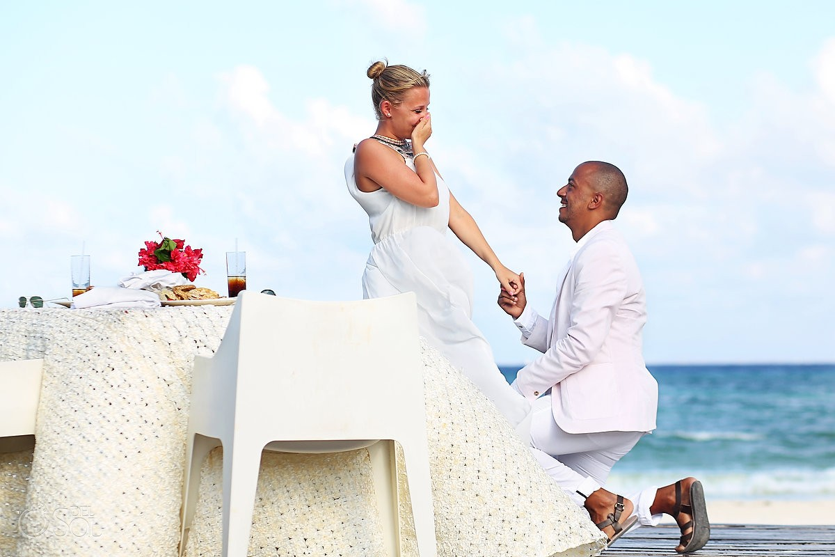 riviera maya engagement Surprise marriage proposal at the grand coral beach club