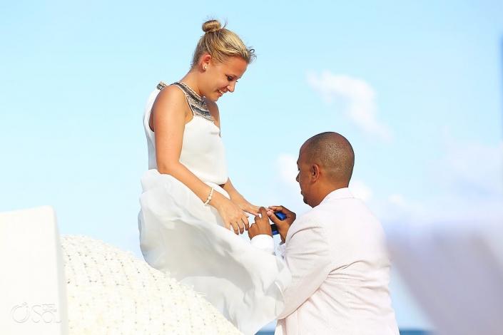 Surprise wedding Grand Coral Beach Club Riviera Maya Mexico