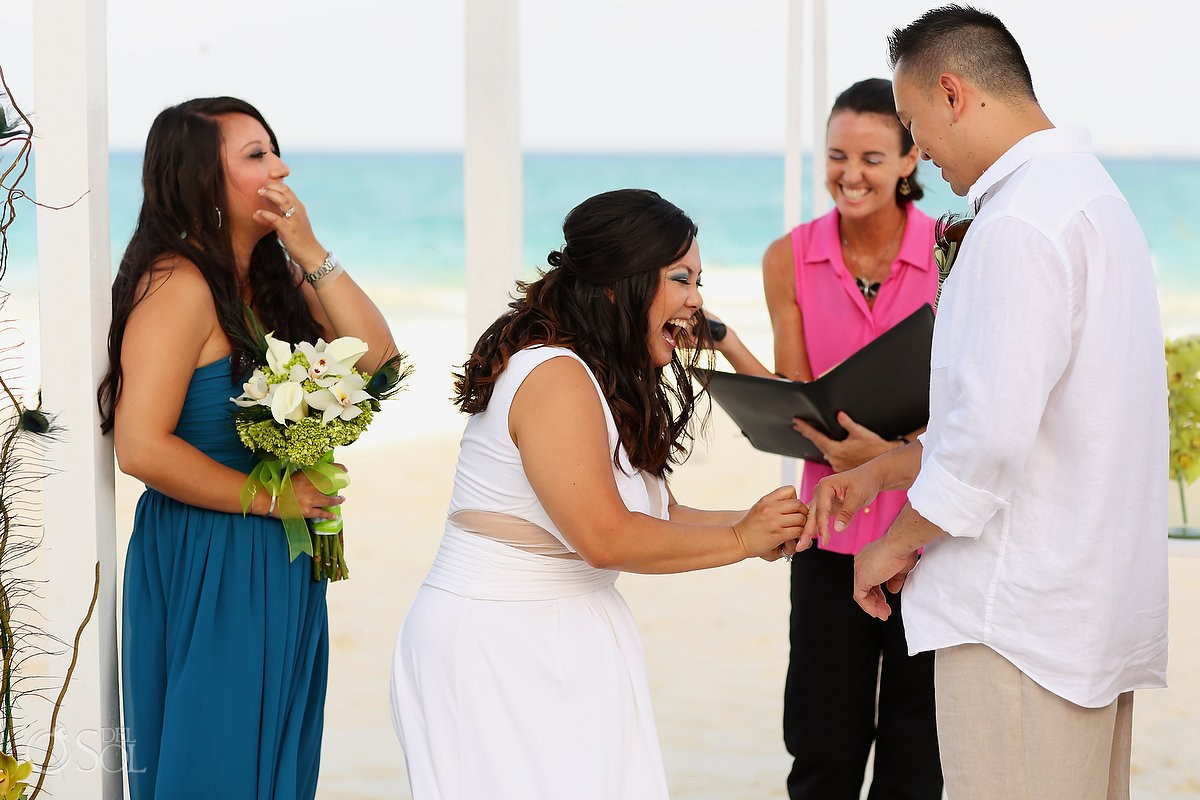 Beach wedding Playa del Carmen Playacar Palace Mexico