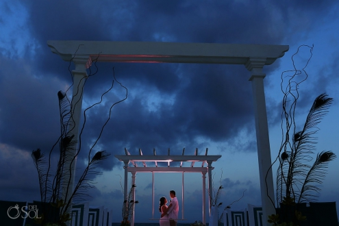 Wedding Playa del Carmen beach Playacar Palace Mexico