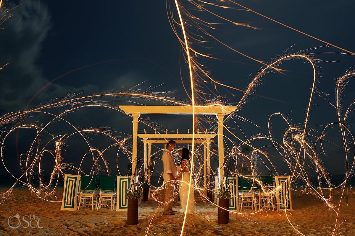 Wedding Playa del Carmen beach Playacar Palace Mexico
