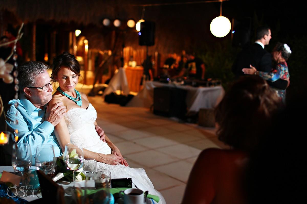Wedding reception beach Riviera Maya Amarte Maroma Mexico