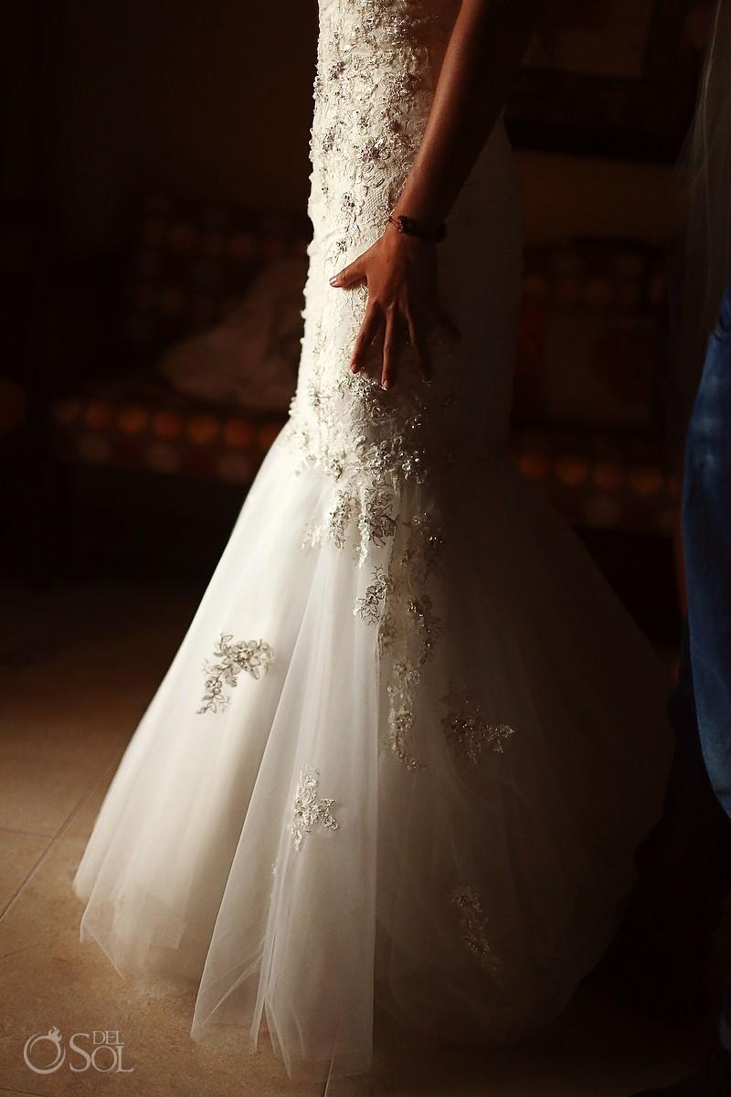 Alfred Sung bridal gown wedding Barcelo Maya Palace