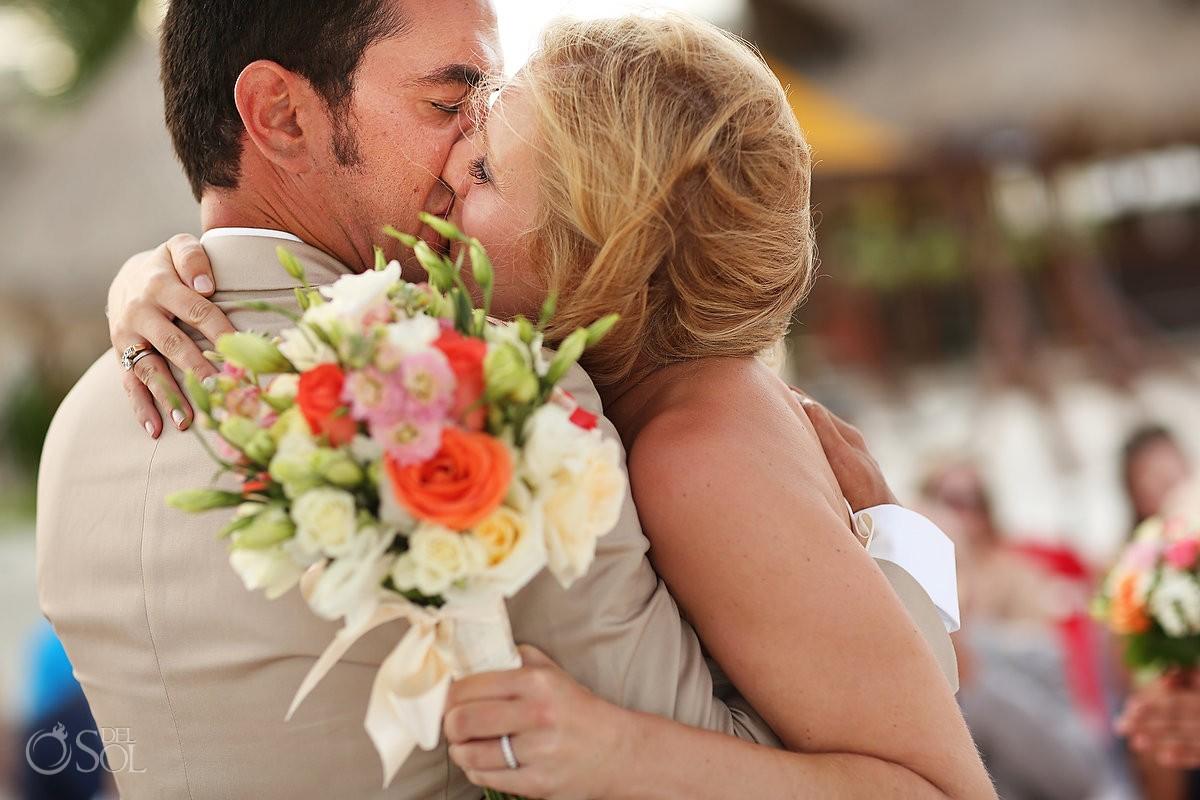 Destination beach wedding Dreams Riviera Cancun Mexico