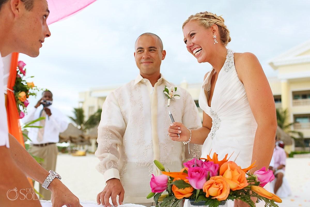 Riviera Maya beach wedding Iberostar Mexico