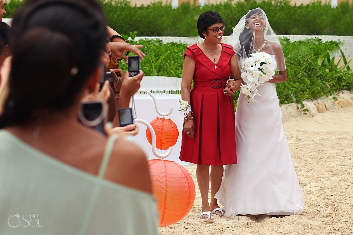 Riviera Maya beach wedding Now Jade Resort Mexico