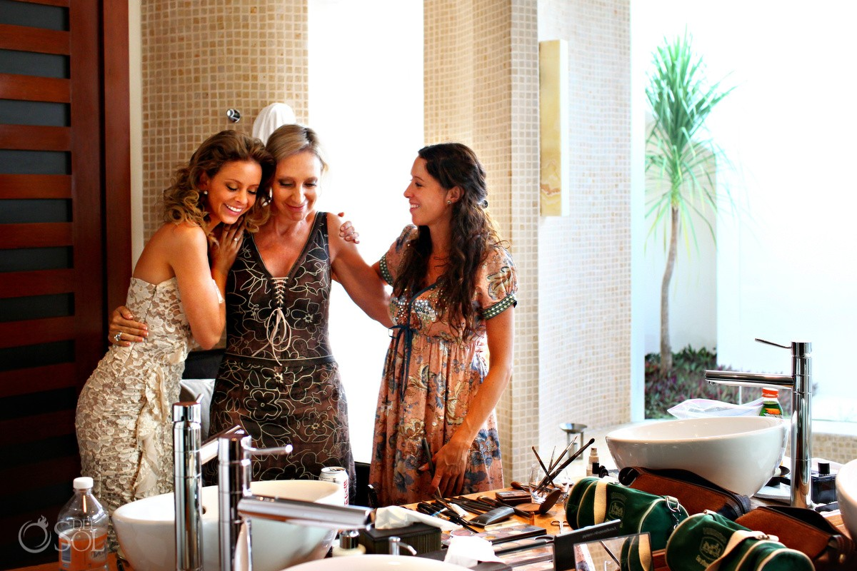 Riviera Maya wedding getting ready Rosewood Mayakoba