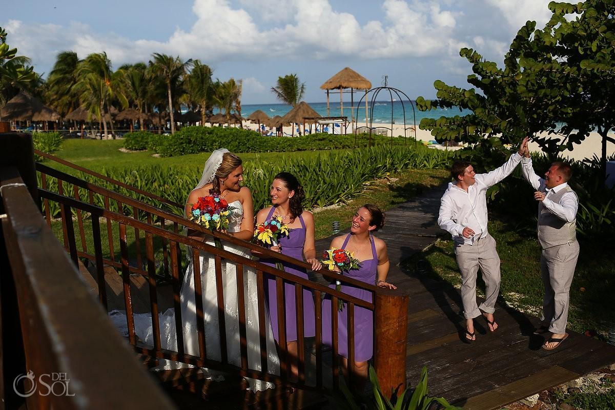 Mexico catamaran wedding photos