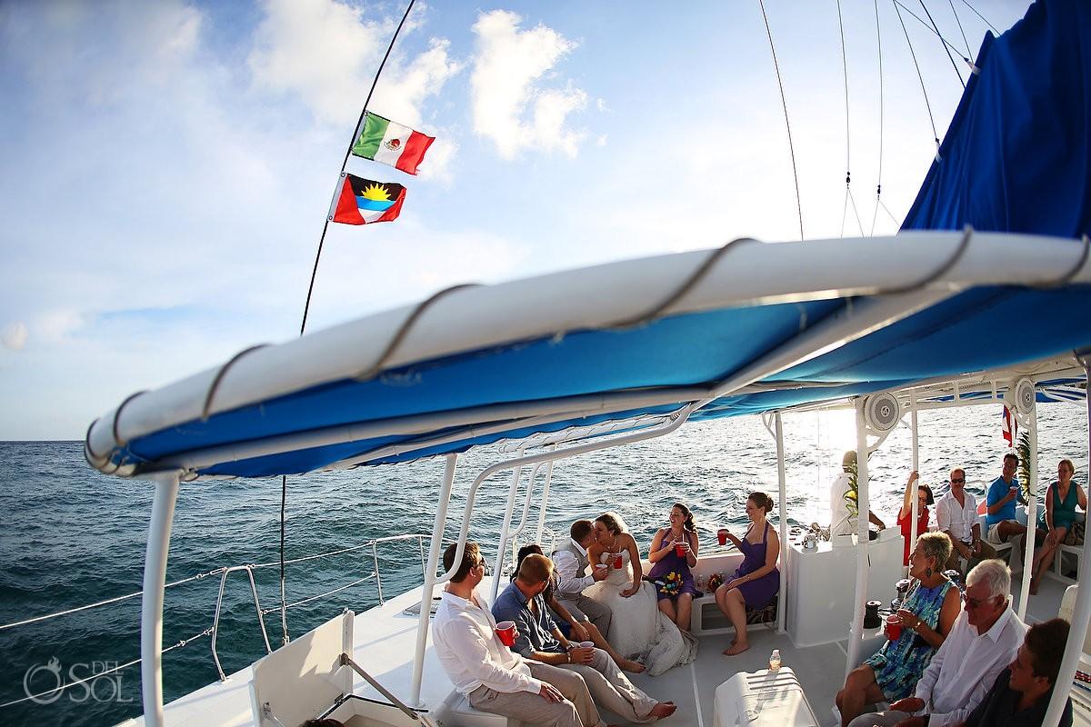 Puerto Aventuras catamaran wedding Mexico