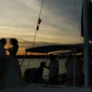 Mexico catamaran wedding photographer