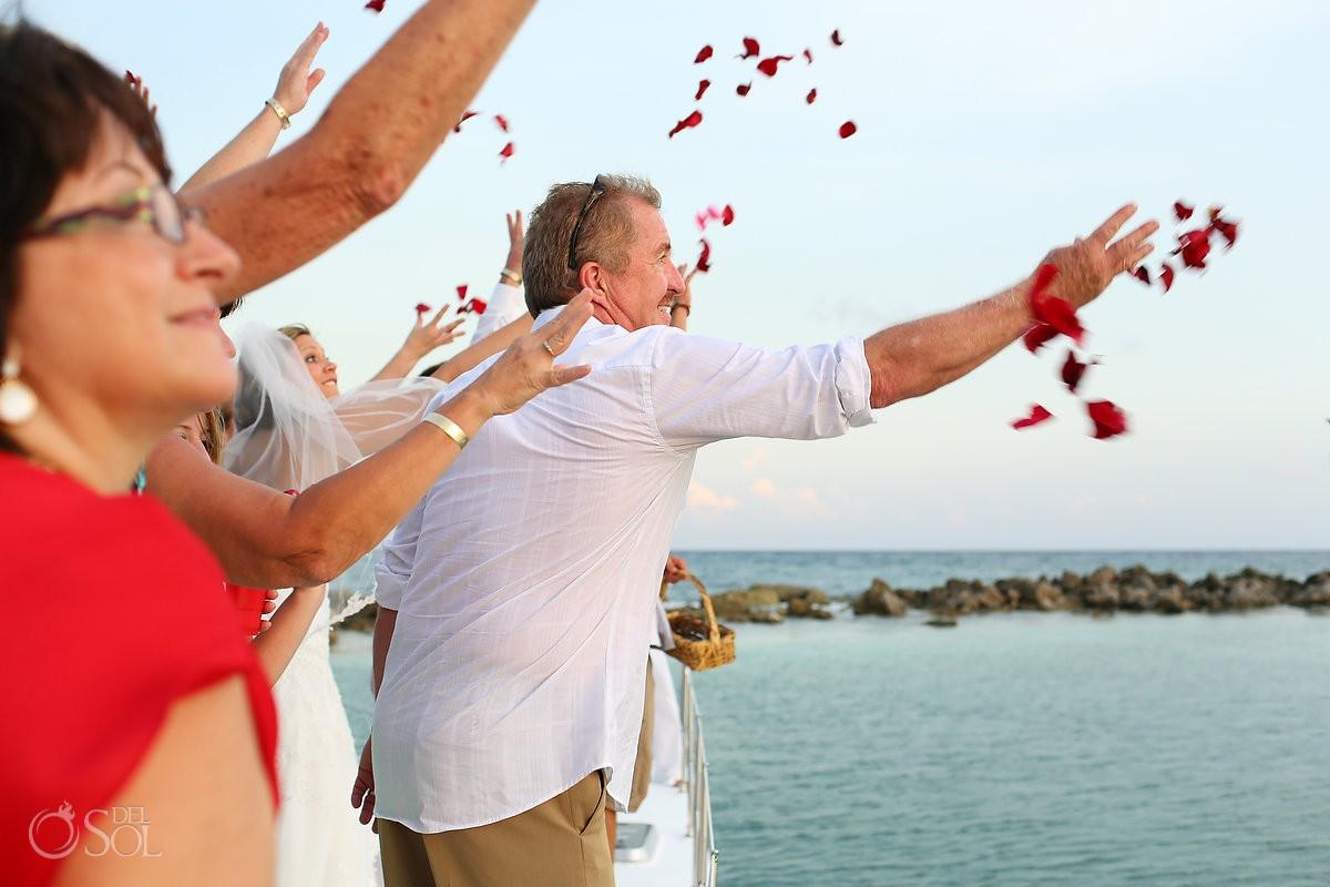 Riviera Maya Catamaran Wedding