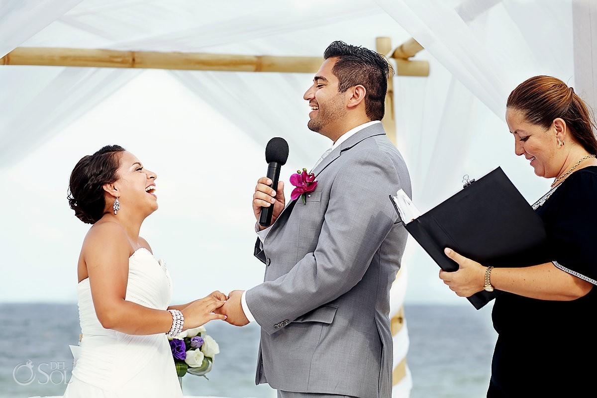 Beach wedding Riviera Maya Now Sapphire Resort Mexico