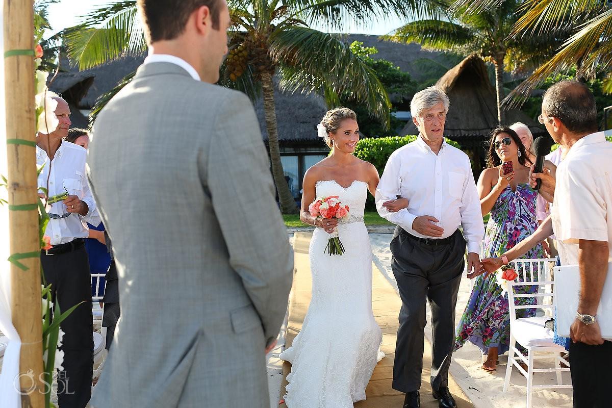 Playa del Carmen beach wedding Le Reve Mexico