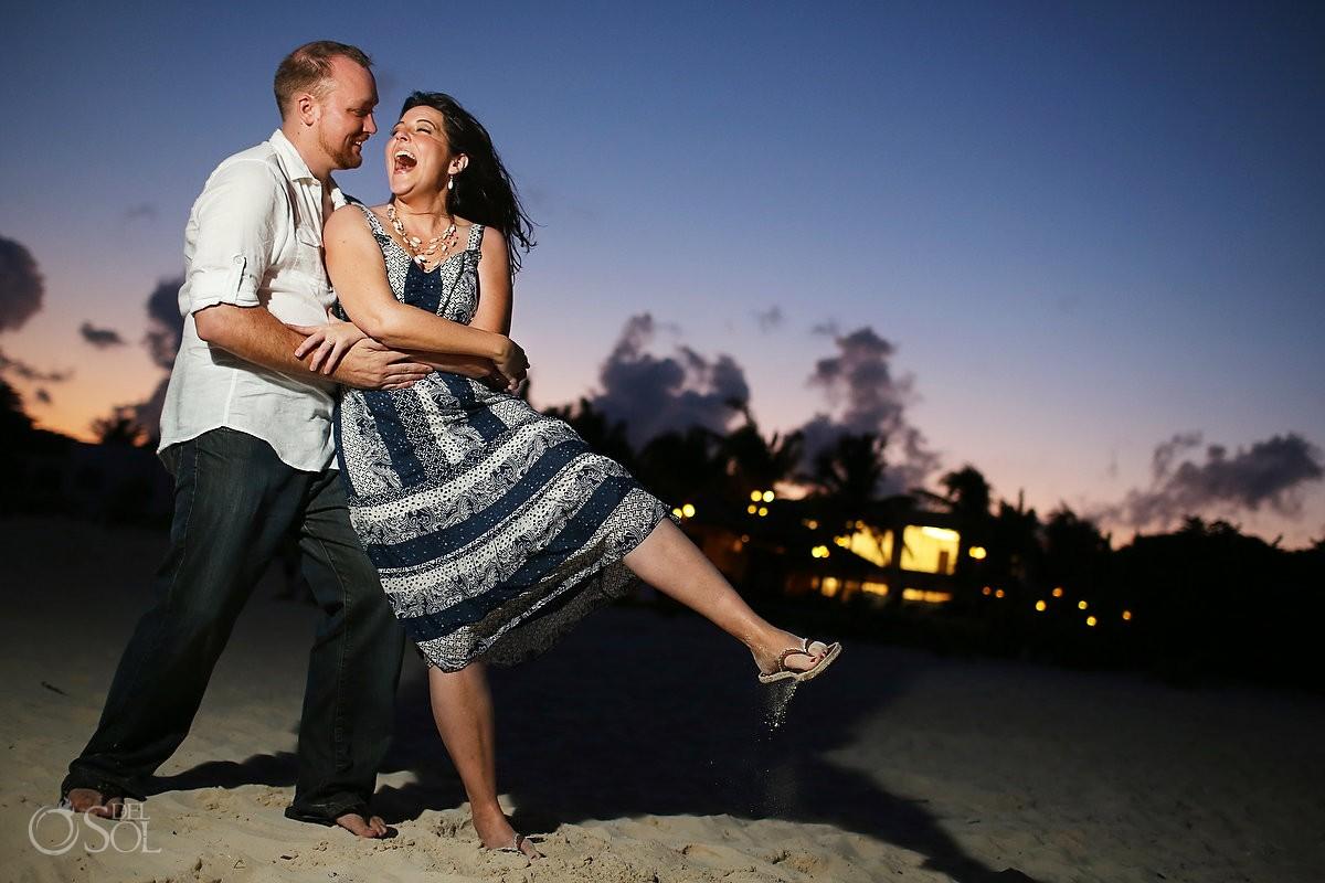 Anniversary portrait photography Playa del Carmen Riviera Maya Mexico