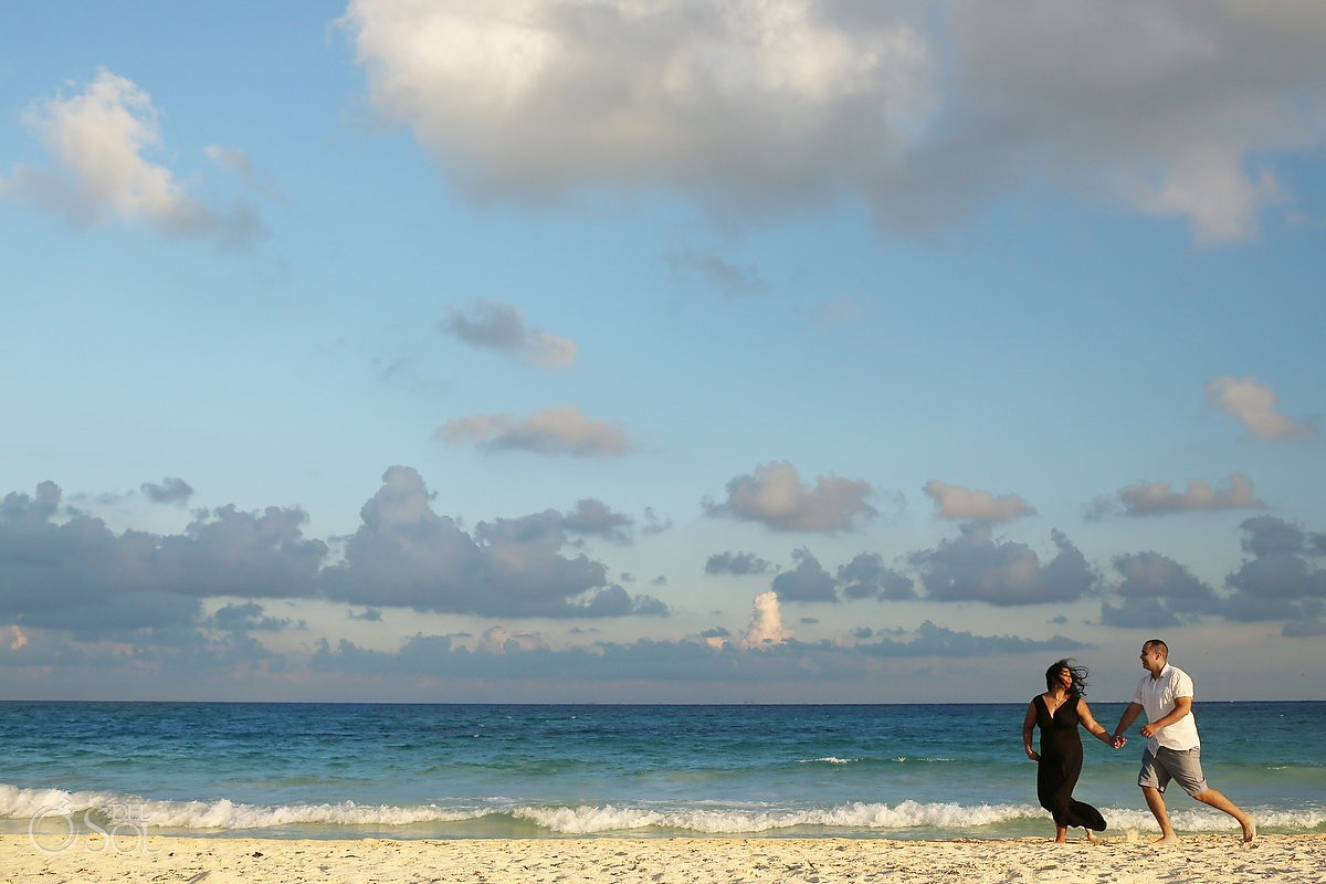 Engagement portrait photography Playa del Carmen Riviera Maya Mexico