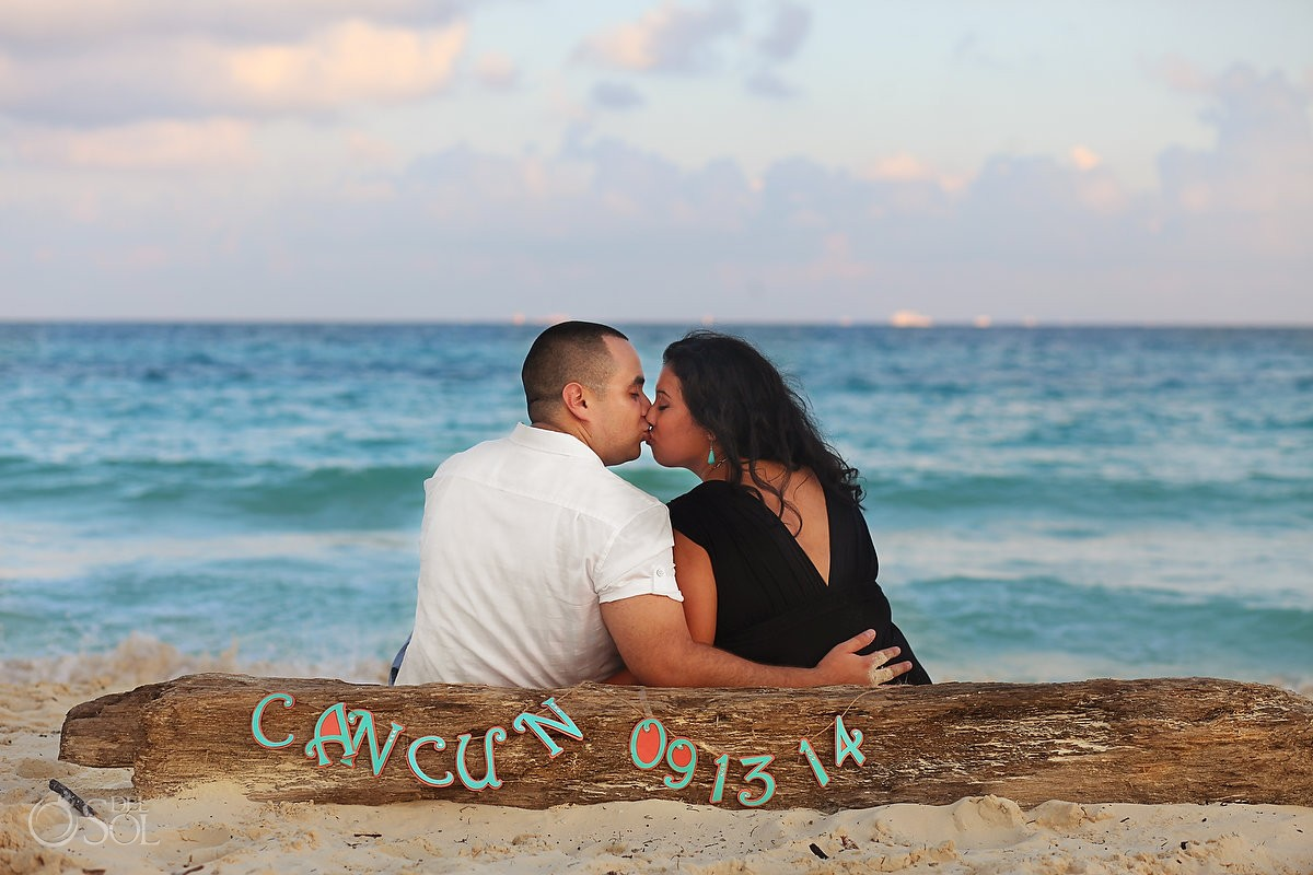Engagement portrait photography Playa del Carmen Riviera Maya Mexico
