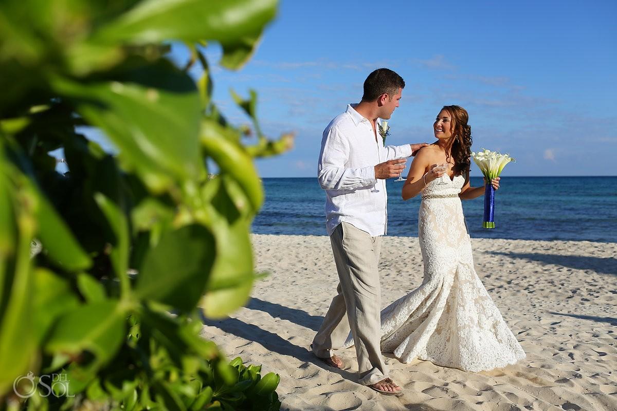 Beach wedding Riviera Maya Now Jade Resort Mexico