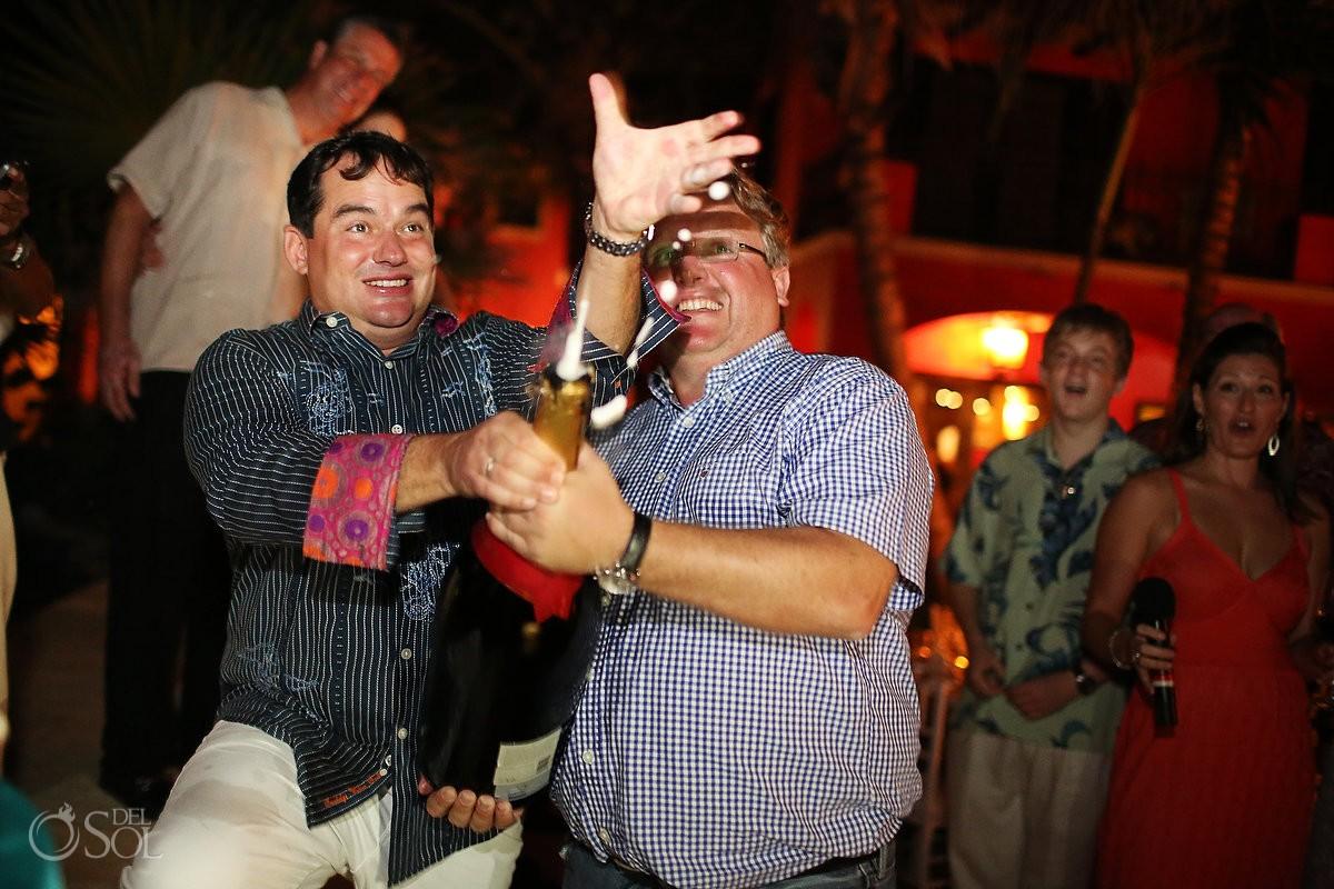 Tulum private villa Casa Buena Suerte party. Mexico photographers Del Sol Photography