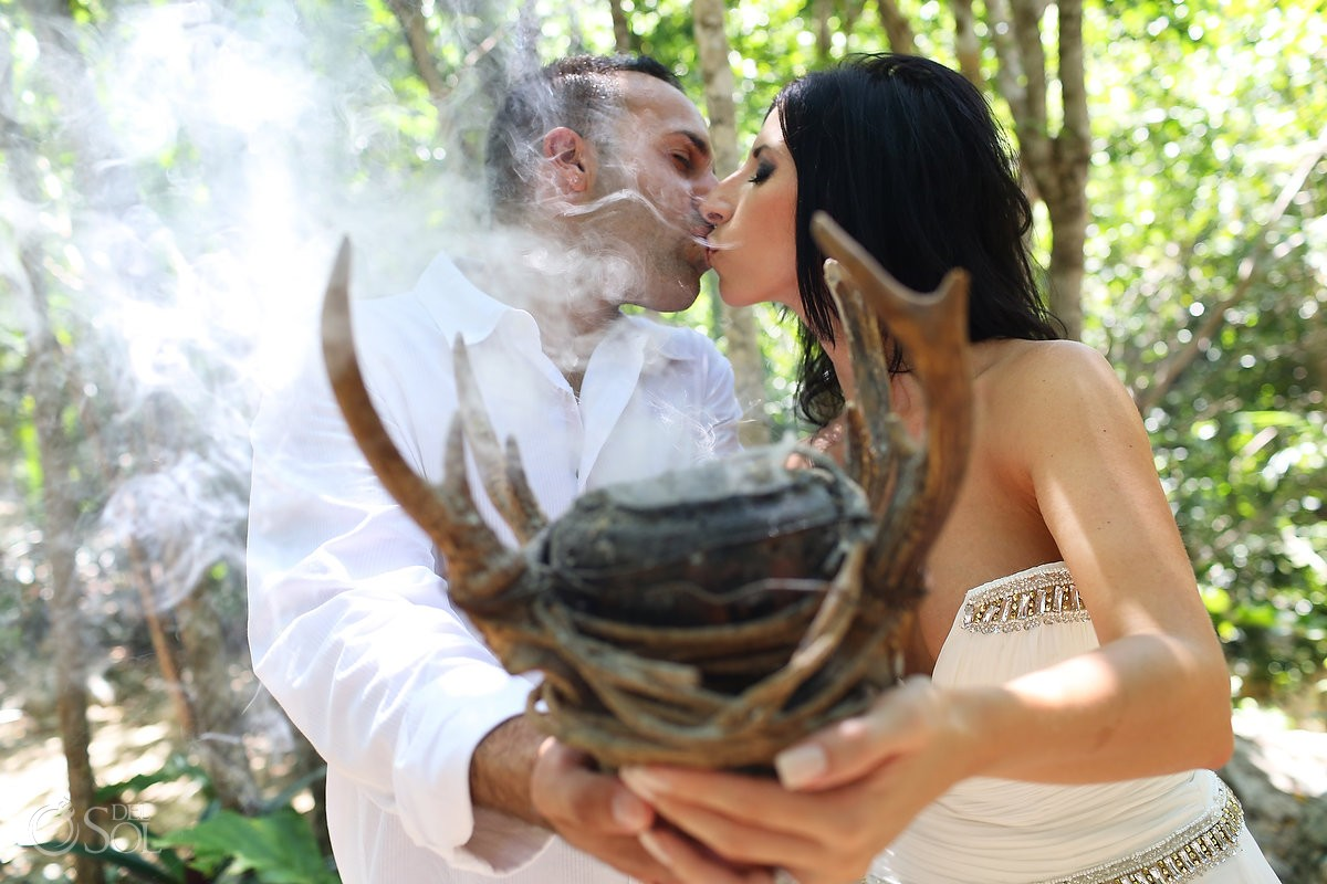Riviera Maya photography trash the dress Mexico