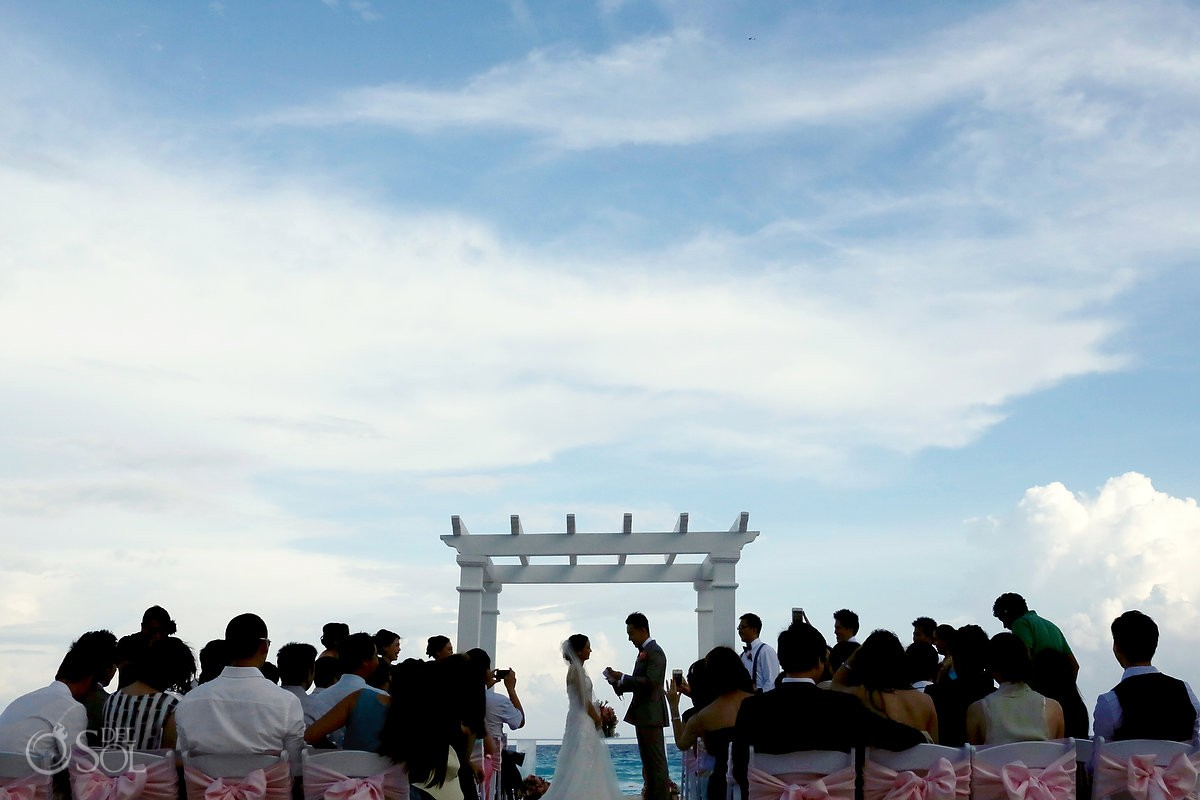 Cancun beach wedding Secrets the Vine Mexico Del Sol Photography