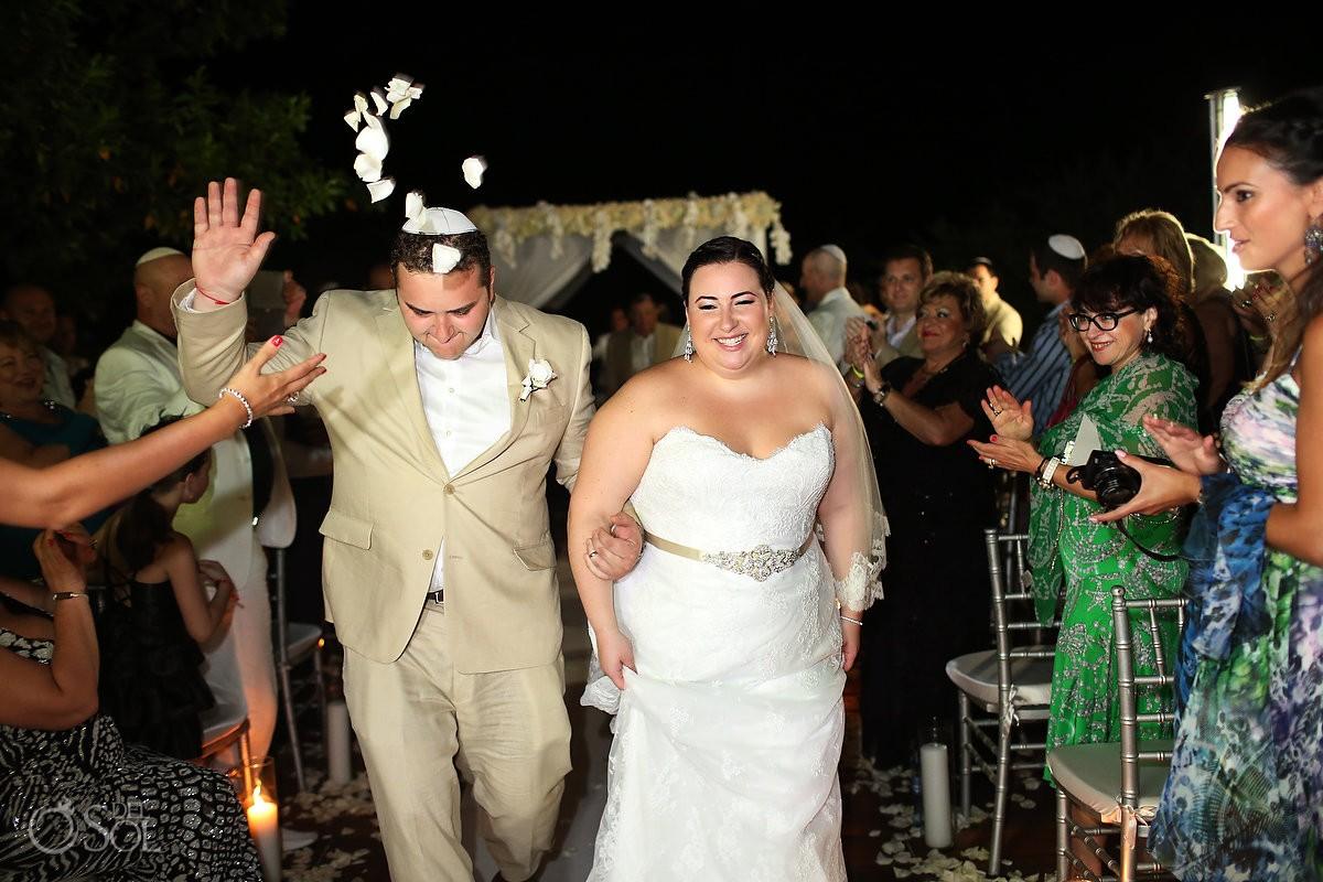 Traditional Jewish Night Wedding Ceremony Paradisus La Perla Jessica And Ben