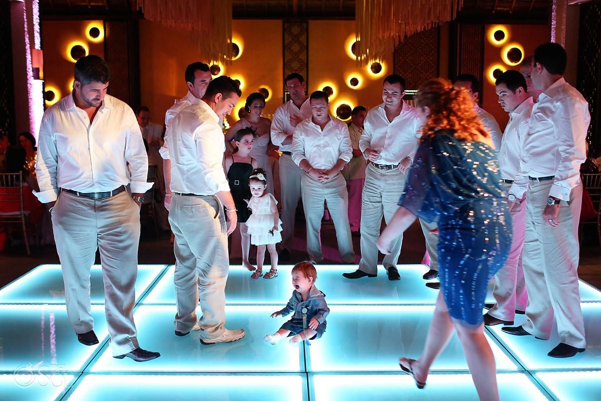 wedding reception dance floor at Paradisus La Perla Mexico