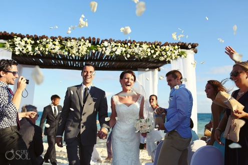 beach wedding Secrets Capri Playa del Carmen #Aworldofitsown
