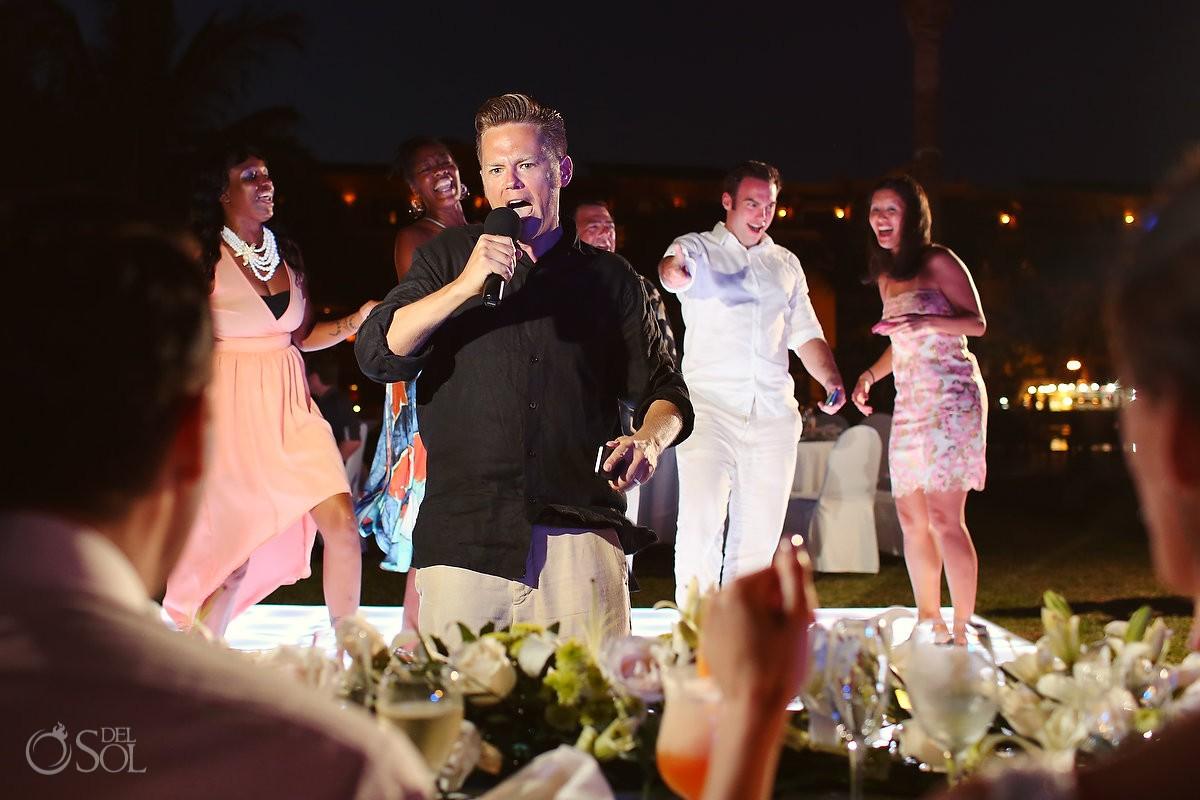 Secrets Capri wedding reception