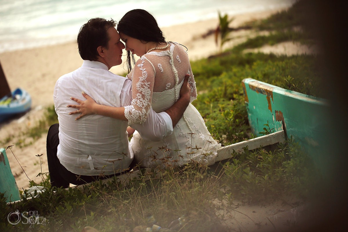 Trash the dress beach Riviera Maya Mexico Del Sol Photography