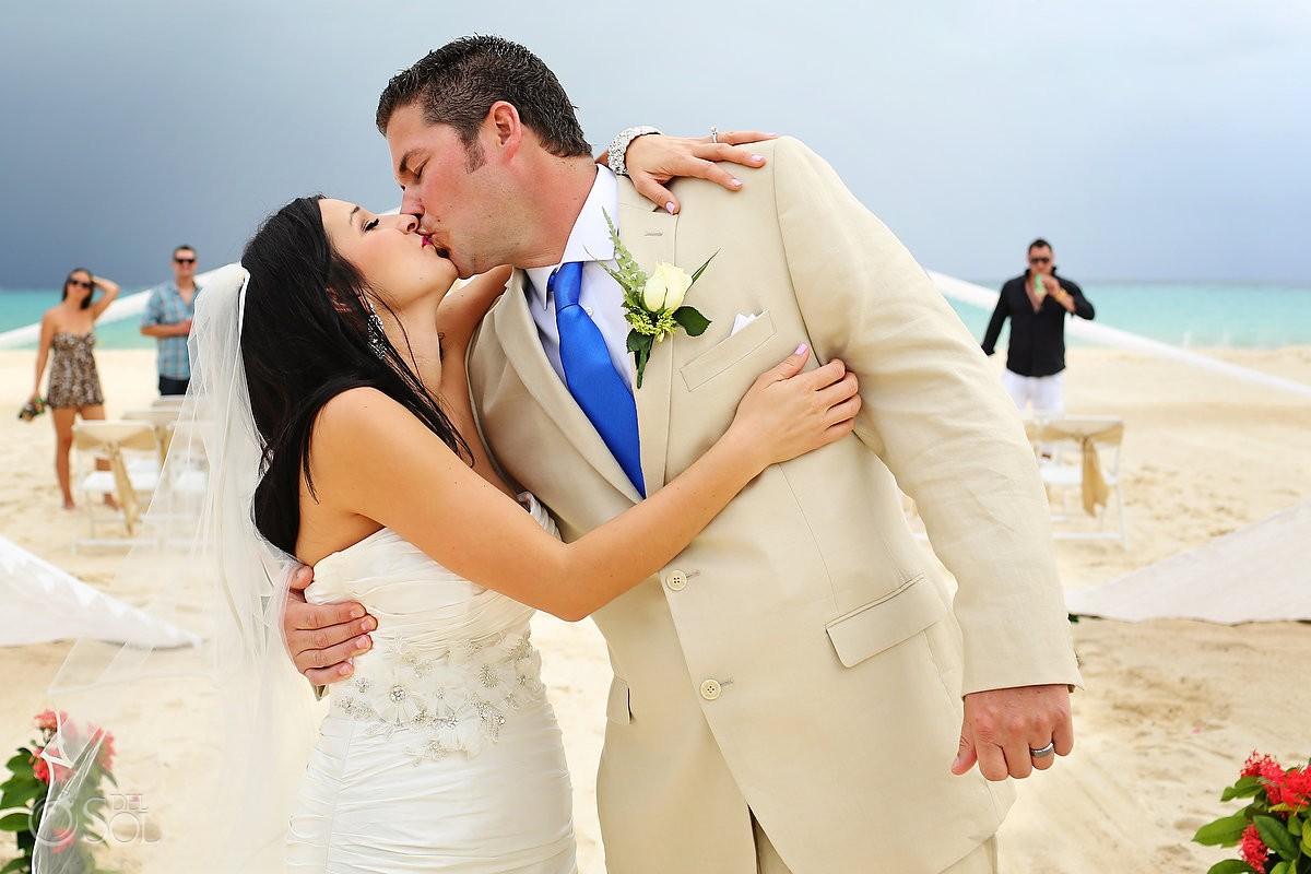 Beach wedding Sandos Playacar Playa del Carmen Mexico Del Sol Photography