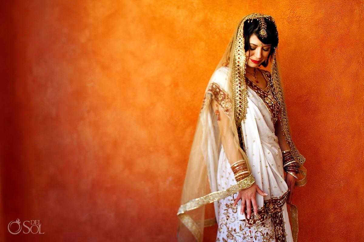 Riviera Maya Hindu destination Wedding bride Barcelo Maya Mexico