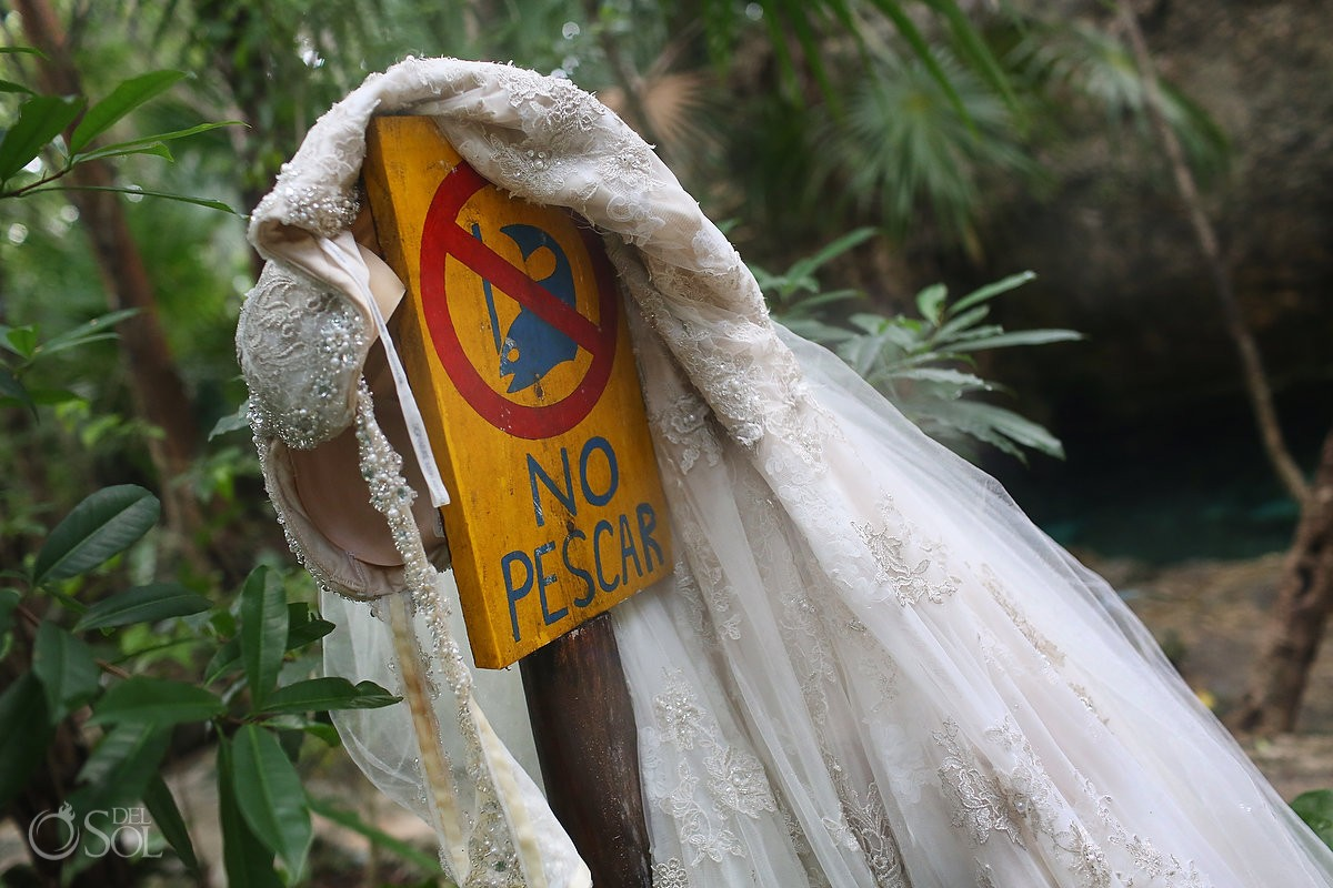 Riviera Maya trash the dress underwater Mexico Del Sol Photography