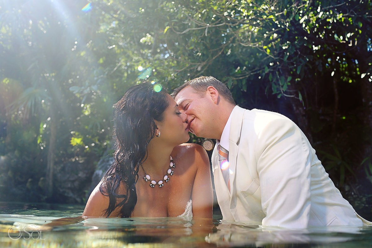 Riviera Maya underwater trash the dress cenote Del Sol Photography