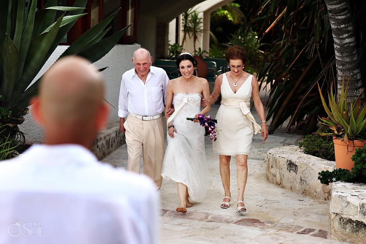 Cosmic beach wedding at Maroma Resort & Spa, Riviera Maya, Mexico.