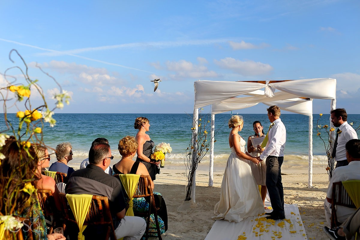 Destination beach wedding Secrets Capri Riviera Maya Mexico Del Sol Photography