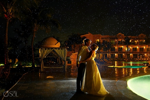 Destination wedding Secrets Capri Riviera Maya Mexico Del Sol Photography , Rain