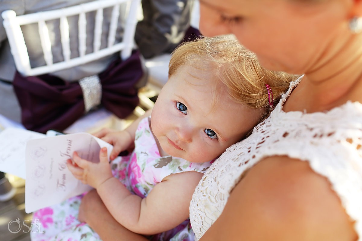 baby wedding guest at Viceroy Resort Mexico