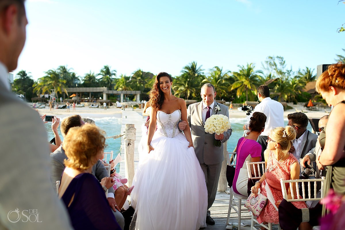 Bride Walking The Aisle For Destination Wedding At Viceroy Hotel