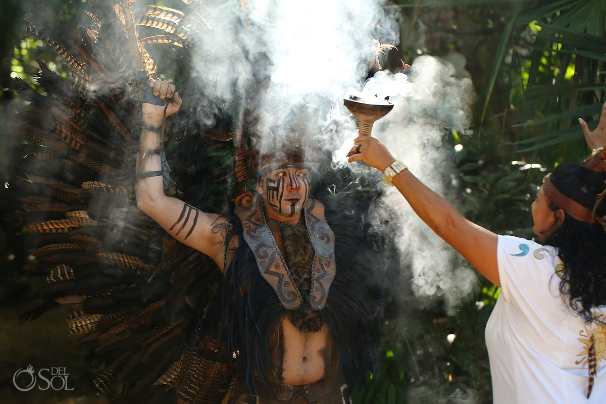 Mayan wedding ceremony eco-park Kantun-Chi Riviera Maya Mexico Del Sol Photography