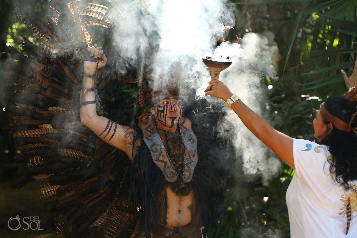 Mayan wedding ceremony eco-park Kantun-Chi Riviera Maya Mexico Del Sol Photography