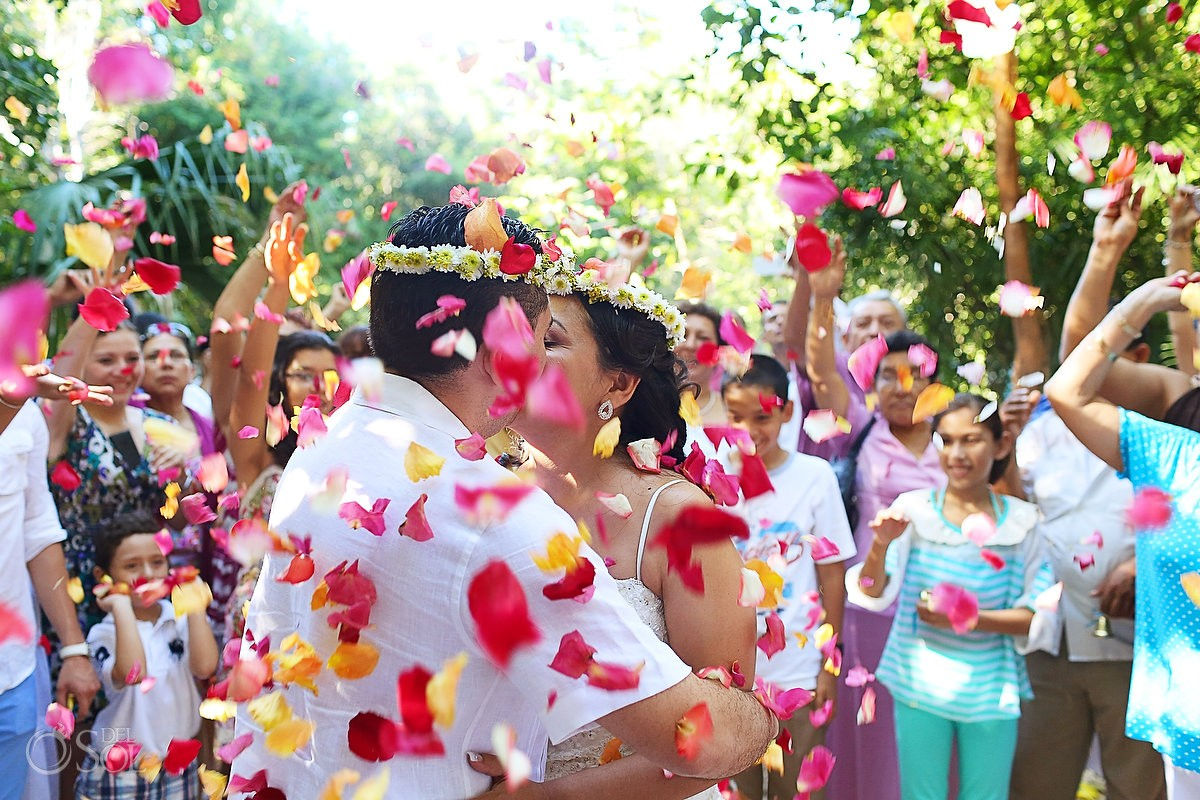 Tulum Mayan Wedding Cenote Ceremony photography