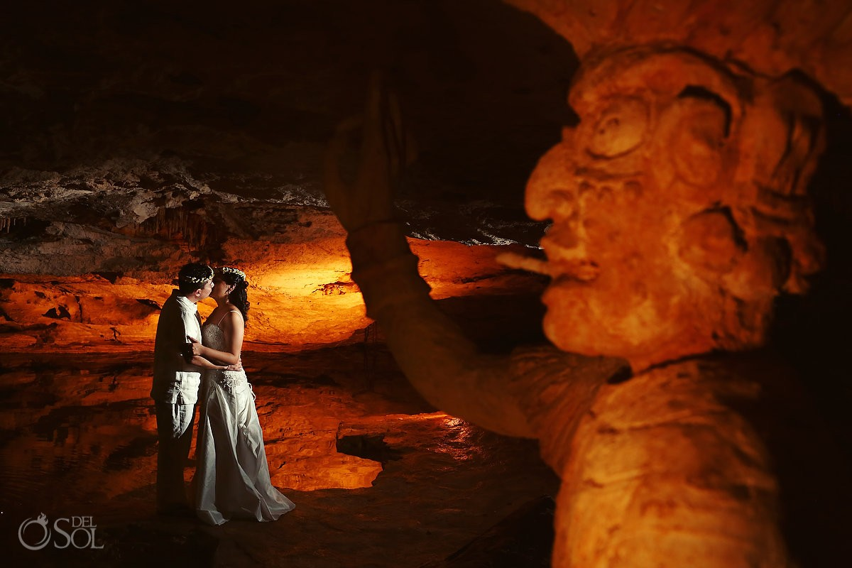 Mayan wedding eco-park Kantun-Chi Riviera Maya Mexico Del Sol Photography