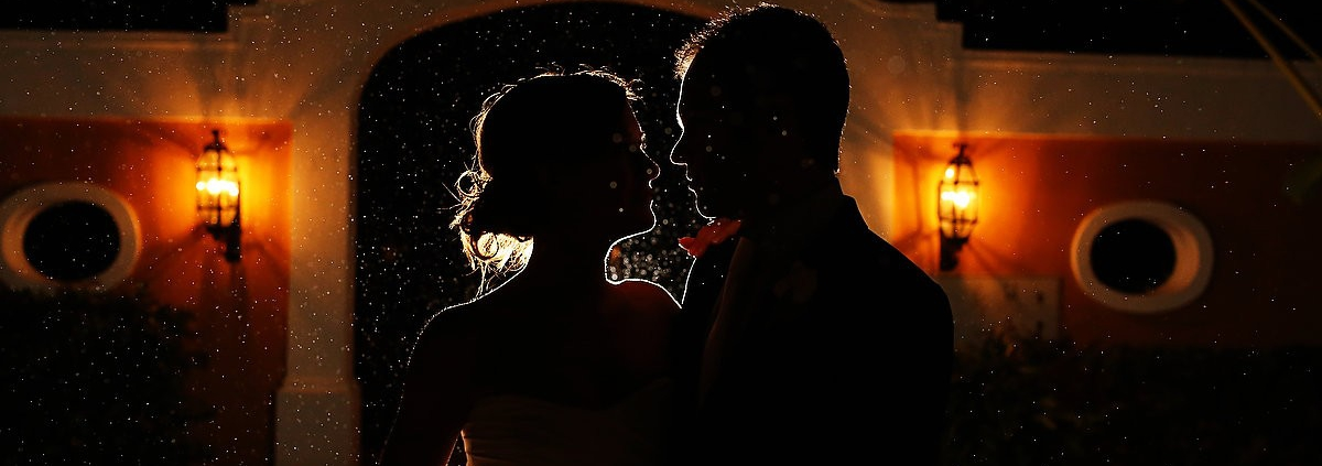 Rain portrait for Beach wedding Dreams Tulum Mexico