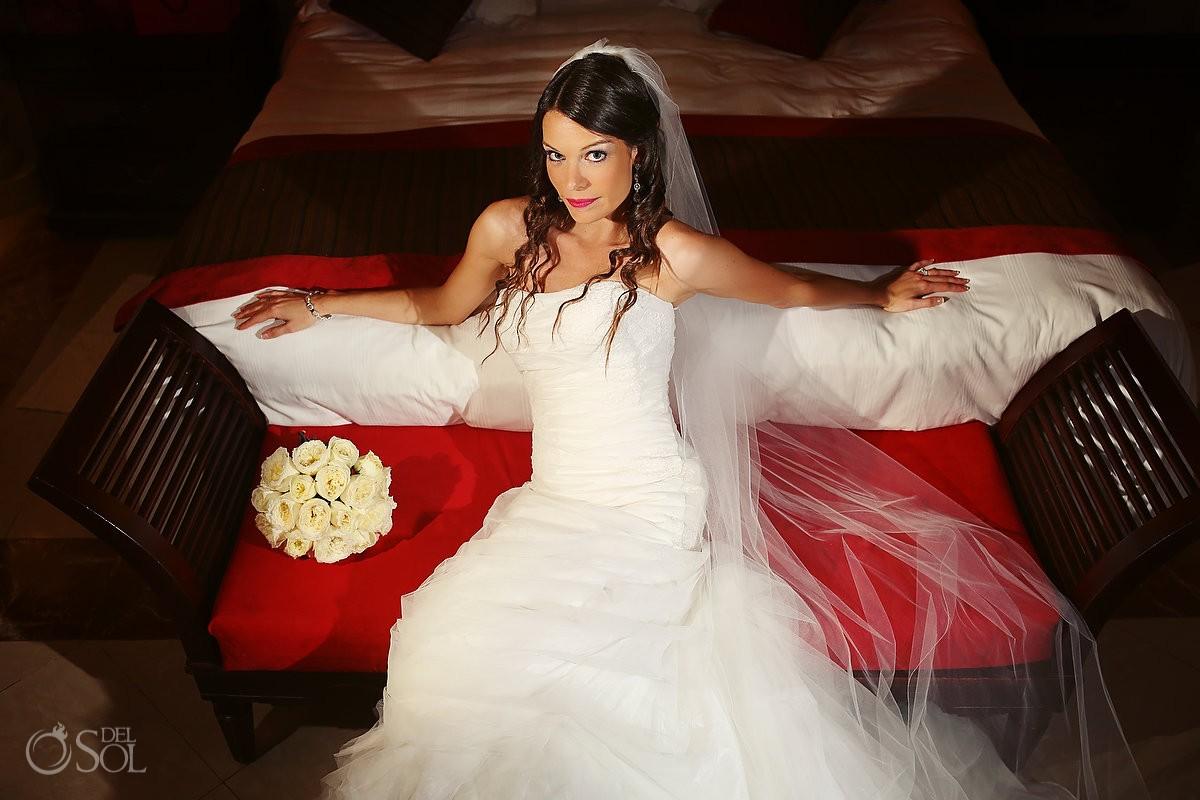 Destination wedding The Royal Playa del Carmen bride Mexico Del Sol Photography