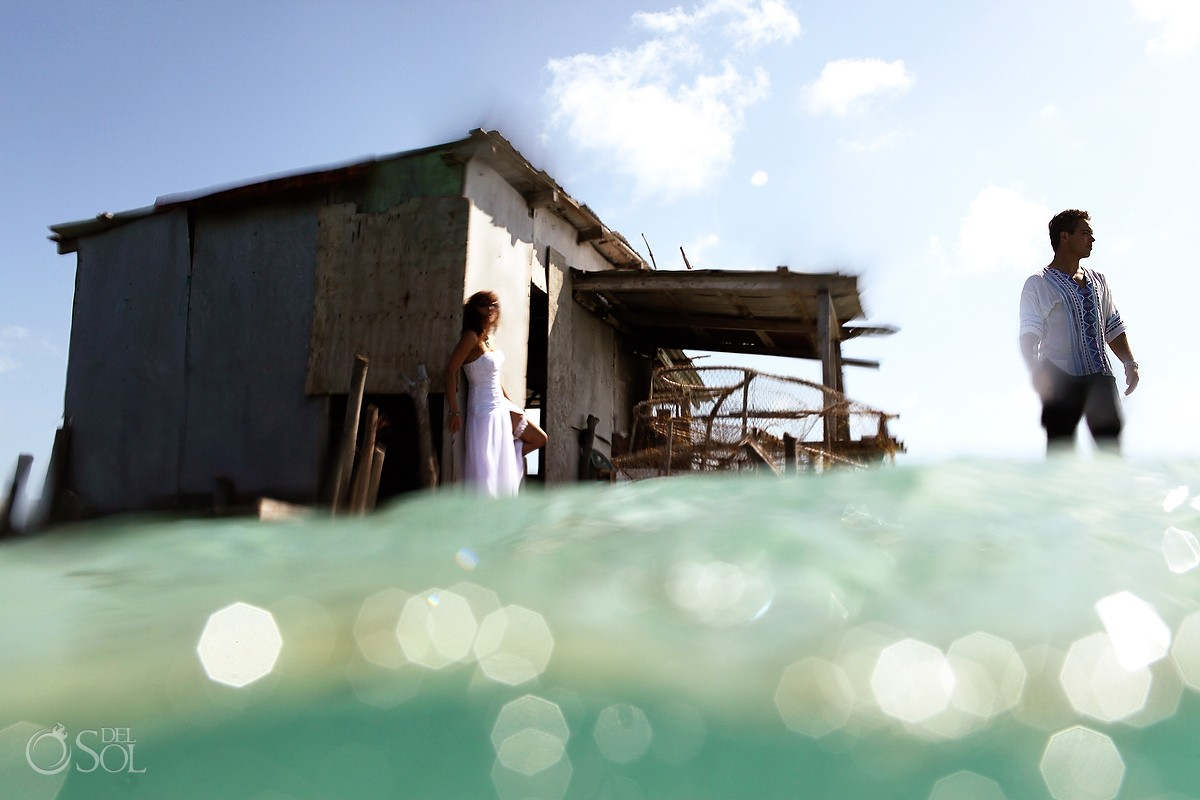 Trash the dress Belize Ambergris Caye Del Sol Photography