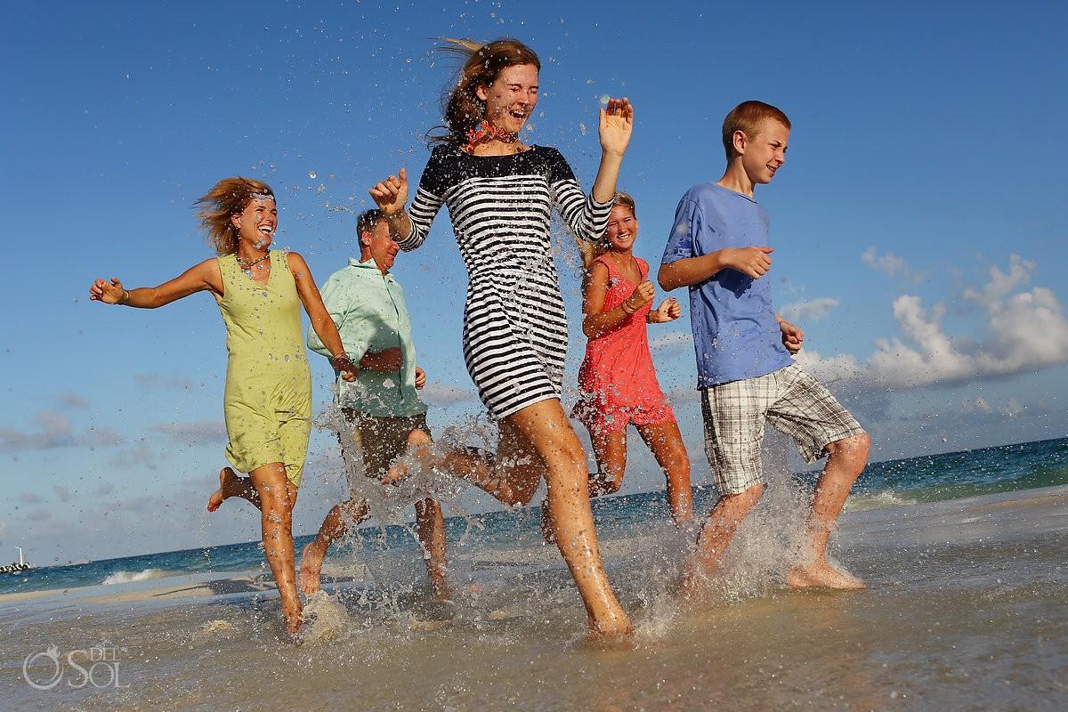 Family portraits beach Playa del Carmen Mexico Del Sol Photography