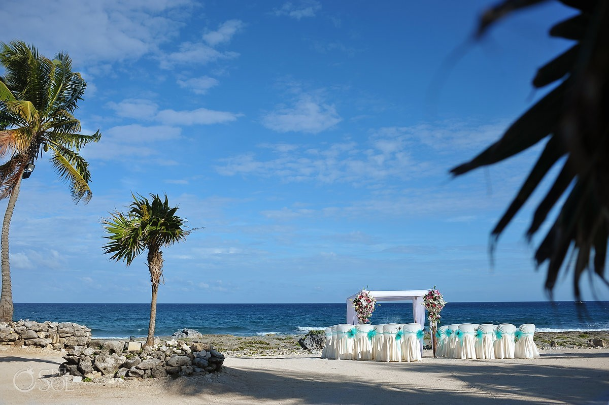 Beach wedding Riviera Maya Grand Sirenis Resort Mexico Del Sol Photography